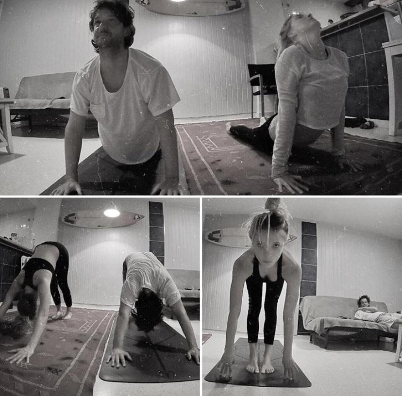 yoga para hombres postura de saludo al sol